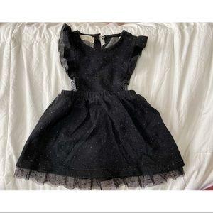 ZARA Baby || Black Dotted Ruffle Dress